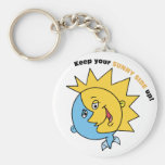 Keep Your Sunny Side Up! Keychains