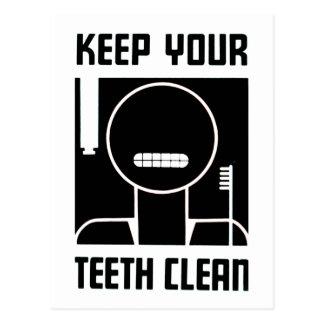 Keep Your Teeth Clean Postcard