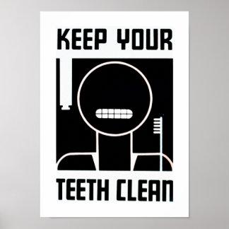 Keep Your Teeth Clean Print