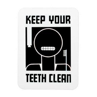 Keep Your Teeth Clean Rectangular Photo Magnet