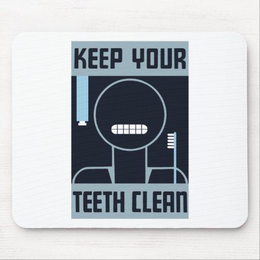 Keep Your Teeth Clean -- WPA Mousepad