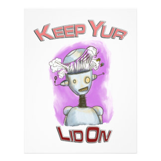 Keep Yur Lid On Robot Letterhead