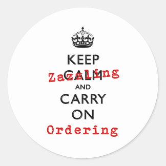 KEEP ZAZZLING CLASSIC ROUND STICKER
