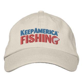 KeepAmericaFishing bordó el gorra Gorra De Beisbol Bordada
