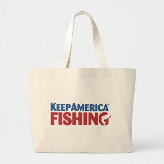 KeepAmericaFishing Color.pdf Large Tote Bag