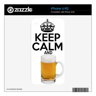keepcalm_Beer Skins For iPhone 4S