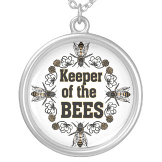 keeper of bees silver plated necklace
