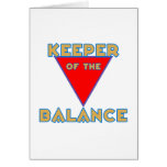keeper of the balance greeting card