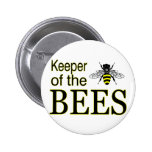 KEEPER OF THE BEES 2 INCH ROUND BUTTON