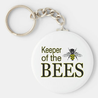 KEEPER OF THE BEES BASIC ROUND BUTTON KEYCHAIN