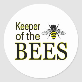 KEEPER OF THE BEES CLASSIC ROUND STICKER