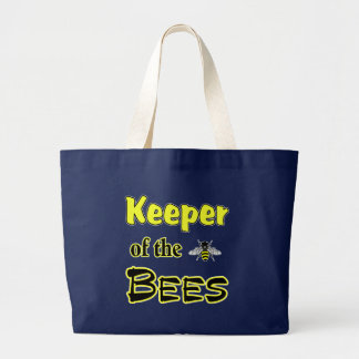 keeper of the bees dark large tote bag