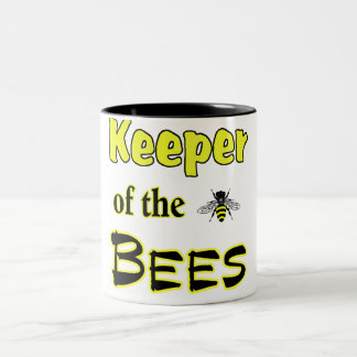 keeper of the bees dark Two-Tone coffee mug