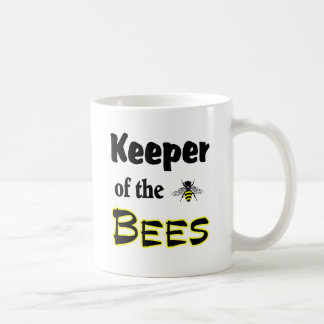 keeper of the bees classic white coffee mug