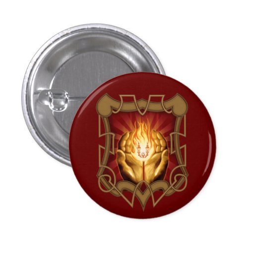 Keeper of the Flame Badge 1 Inch Round Button