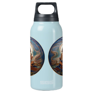 Keeper of the Threshold by Elihu Vedder Thermos Water Bottle