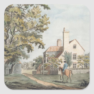 Keepers House in Richmond Park, 1757 (pen, ink & w Square Sticker