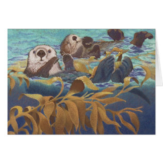 Keepers of the Kelp Sea Otters Stationery Note Card