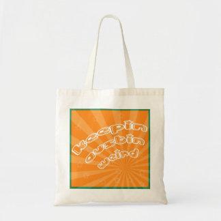 Keepin Austin Weird With Orange Sunburst Budget Tote Bag