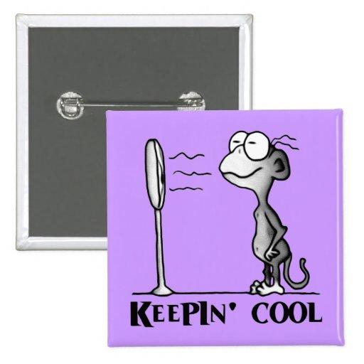 Keepin' Cool Monkey Button