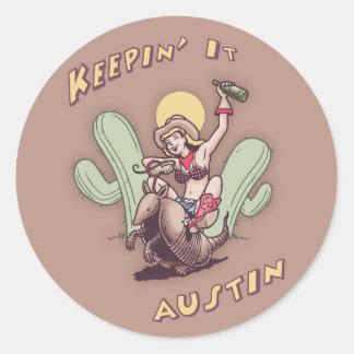 Keepin' It Austin Classic Round Sticker