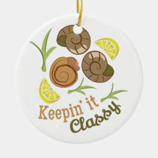 Keepin It Classy Double-Sided Ceramic Round Christmas Ornament