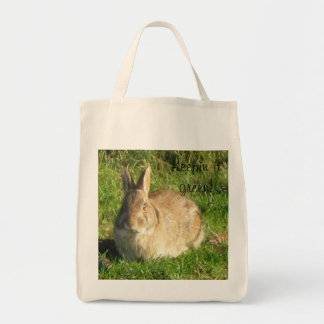 Keepin it green! grocery tote bag
