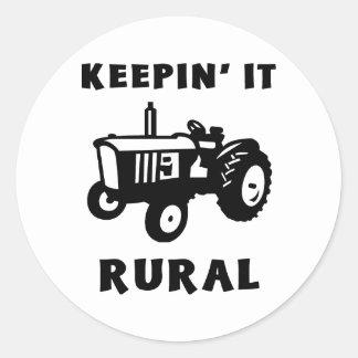 Keepin' It Rural Classic Round Sticker