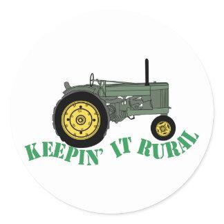 Keepin it Rural Classic Round Sticker