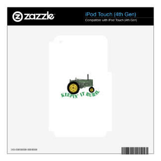Keepin it Rural Decals For iPod Touch 4G