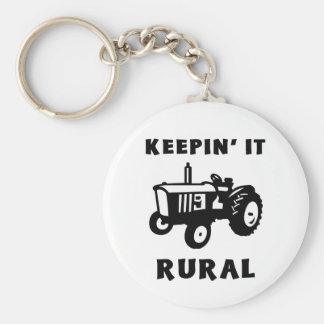 Keepin' It Rural Keychain