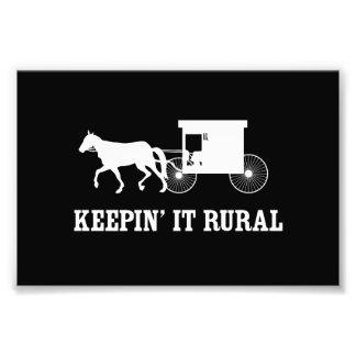 Keepin' it Rural Photo Print