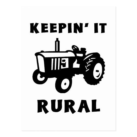 Keepin' It Rural Postcard