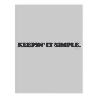 Keepin' it simple. postcard