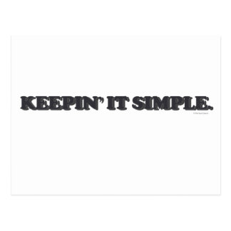 Keepin' It Simple Postcard