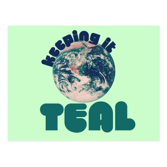 Keepin' it Teal Postcard