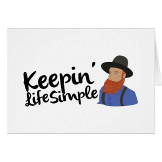 Keepin Life Simple Card