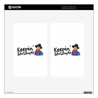 Keepin Life Simple Kindle Fire Decals