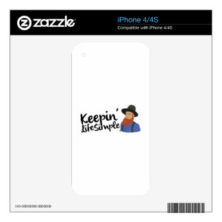 Keepin Life Simple Skins For The iPhone 4