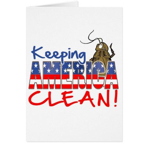 KEEPING AMERICA CLEAN CARD