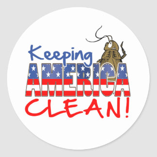 KEEPING AMERICA CLEAN CLASSIC ROUND STICKER