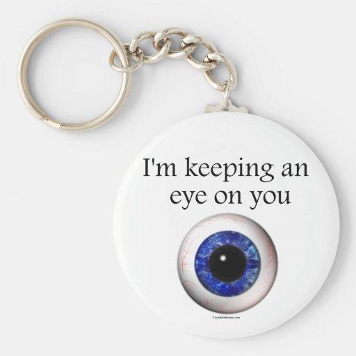 Keeping an Eye on You Keyring Key Chain