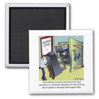 Keeping Files Safe 2 Inch Square Magnet