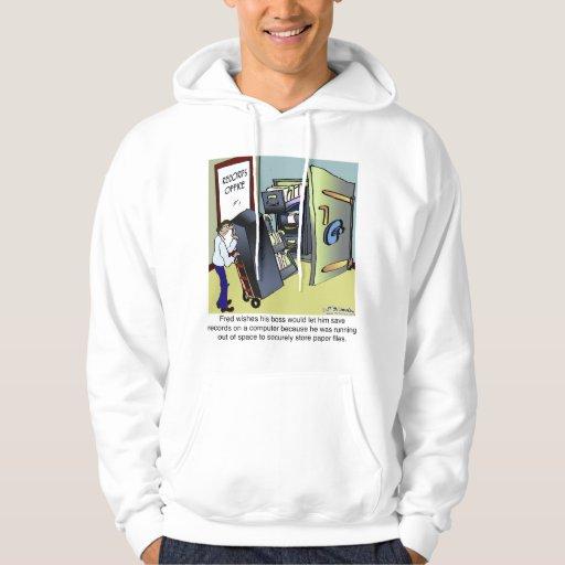 Keeping Files Safe Hooded Sweatshirts