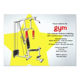 Keeping Fit Gym Invitation