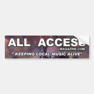 Keeping Local Music Alive -  Bumper Sticker Car Bumper Sticker