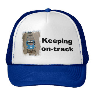 Keeping on track trucker hat