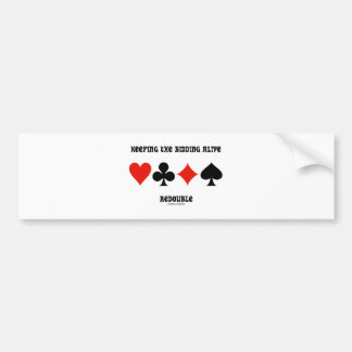 Keeping The Bidding Alive Redouble (Card Suits) Car Bumper Sticker