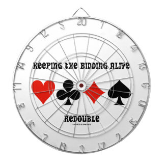 Keeping The Bidding Alive Redouble (Card Suits) Dartboard With Darts