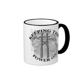 KEEPING THE POWER ON COFFEE MUG